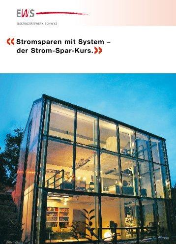 Stromsparen mit System - Elektrizitätswerk Schwyz
