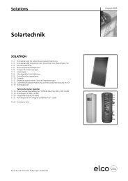 Solutions Solartechnik - Ernst Elsasser AG
