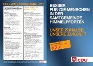 Samtgemeinde Himmelpforten - CDU-Kreisverband Stade