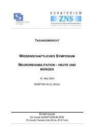 wissenschaftliches symposium neurorehabilitation - Hannelore Kohl ...