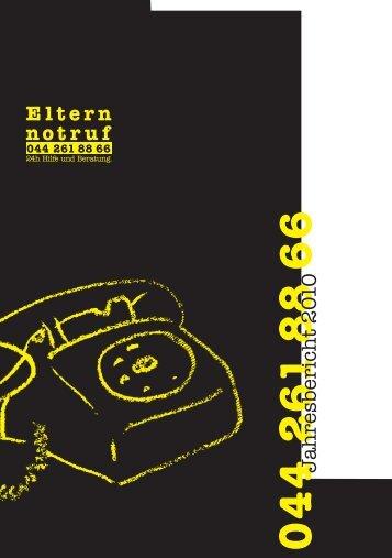 Jahresbericht 2010 - Elternnotruf