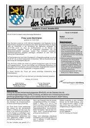 Nr. 21 / 02.11.2012 - Stadt Amberg