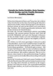 Chronik des Dorfes Strehlitz, Kreis Namslau, Bezirk Breslau und der ...