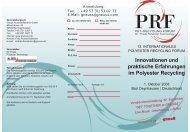 Innovationen und praktische Erfahrungen im Polyester ... - Gneuß