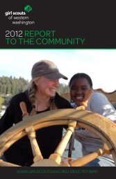 Read our 2012 Report to the Community - Girl Scouts of Western ...