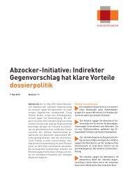 Abzocker-Initiative: Indirekter Gegenvorschlag hat klare Vorteile ...