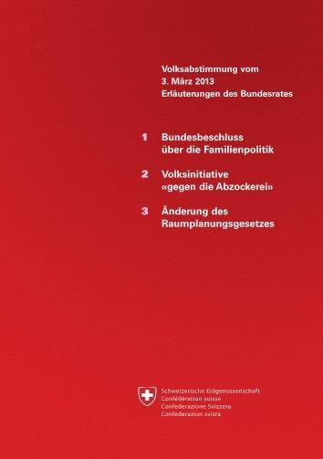Erläuterungen des Bundesrates - Ch.ch