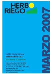 Lista de precios - Herbo Riego