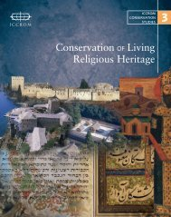 Conservation of Living Religious Heritage - Iccrom