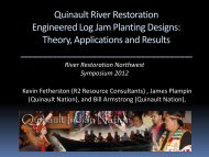 Quinault River Restoration Engineered Log Jam Planting Designs ...
