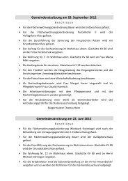 Gemeinderatsbeschlüsse ab 2011 - Ratten