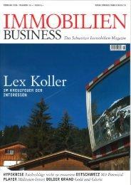 BUSINESS Das Schweizer Immobilien-Magazin - location.ch