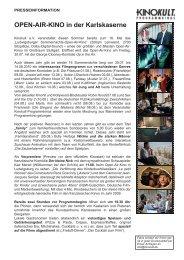 Presseinfo open air kino