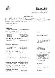 1 N iederschrift über die 9. Sitzung des Stadtentwicklungs-, Planungs