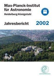 Max-Planck-Institut für Astronomie - Jahresbericht 2002