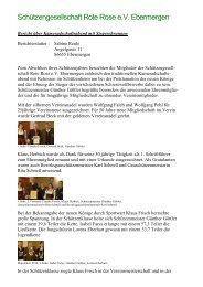 Jahresbericht 2013 - Rote Rose Ebermergen