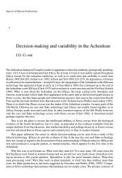 Decision-making and variability in the Acheulean - PanAfrican ...
