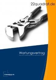 Vertrag   Wartungsvertrag Seite   1 - 22quadrat.de