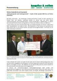 Pressemeldung - Andreas Kupfer & Sohn GmbH