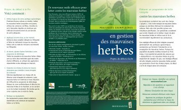 Gestion des mauvaises herbes - Genuity