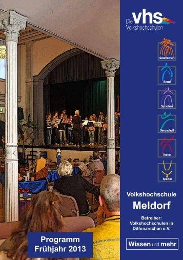 Programm Frühjahr 2013 - VHS Meldorf