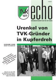 TVK-Echo 2/2009 - Turnverein 1877 eV Essen-Kupferdreh