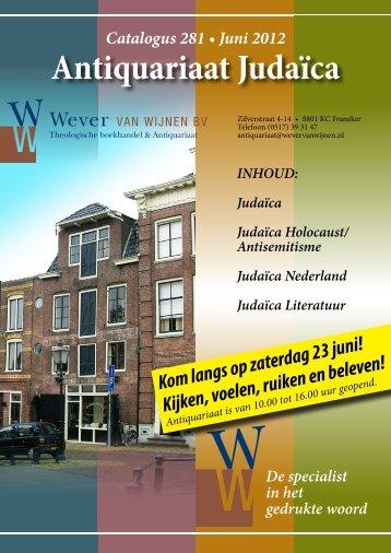 Antiquariaat Judaïca - Wever van Wijnen