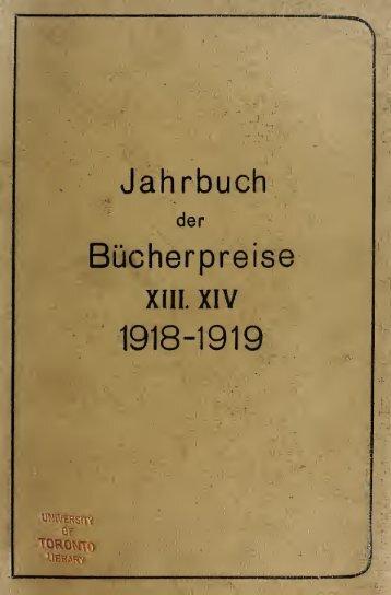 Jahrbuch der Bücherpreise; Ergebnisse der ... - Index of