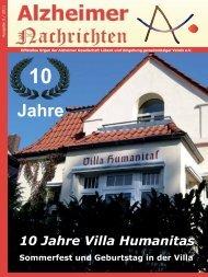 10 Jahre Villa Humanitas - Alzheimer Nachrichten