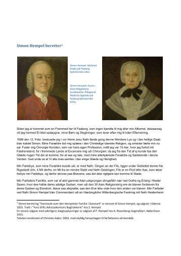 Simon Hempel beretter1 - Velkommen til Gammel Ryttergaard