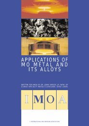 APPLICATIONS OF MO METAL AND ITS ALLOYS - IMOA