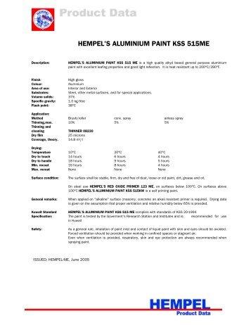 HEMPEL'S ALUMINIUM PAINT KSS 515ME