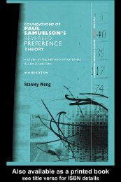 The Foundations of Paul Samuelson's Revealed ... - Semillero-HPE