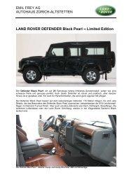 LAND ROVER DEFENDER Black Pearl - Emil Frey AG