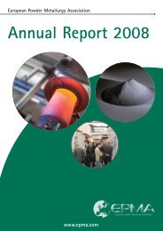 Annual Report 2008 - European Powder Metallurgy Association
