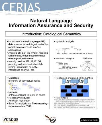 natural language - Cerias - Purdue University