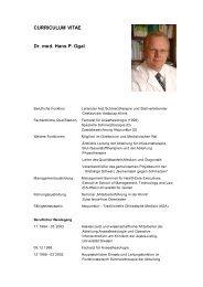 CURRICULUM VITAE Dr. med. Hans P. Ogal
