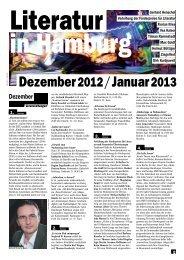 Dezember und Januar 2012/2013 - Literatur in Hamburg