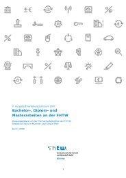 Bachelor-, Diplom- und Masterarbeiten an der FHTW - HTW Berlin