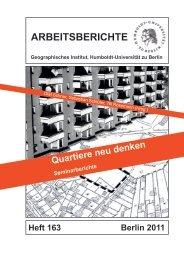 Arbeitsbericht 163 (HU Berlin): Quartiere neu denken - Arbeitskreis ...