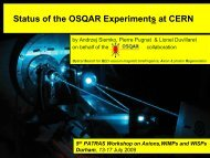 osqar - 5th Patras Workshop on Axions, WIMPs and WISPs