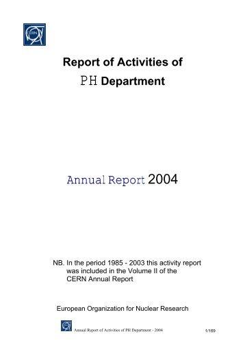 Annual Report 2004 - CERN | Scientific Information Service