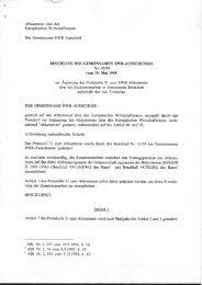 Abkommen über den Europäischen Wirtschaftsraum - EFTA