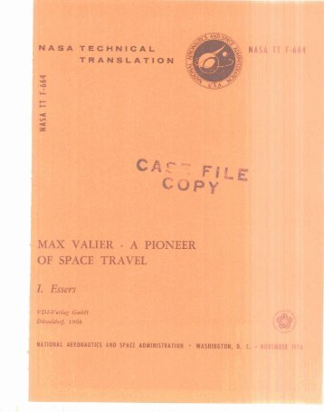 Max Valier: A pioneer of space travel
