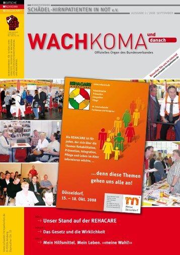 Wachkoma und danach - Leseprobe aus der Ausgabe 3