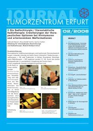 Journal TZ 02_06 aktuell - Tumorzentrum Erfurt eV