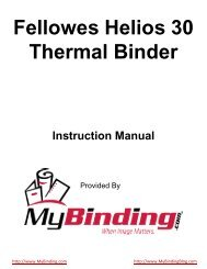 Fellowes Helios 30 Thermal Binder - Amazon Web Services