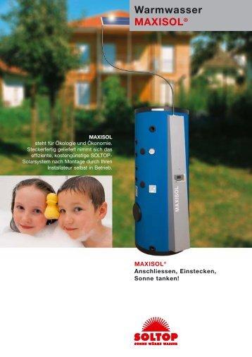Warmwasser MAXISOL® - Ernst Elsasser AG