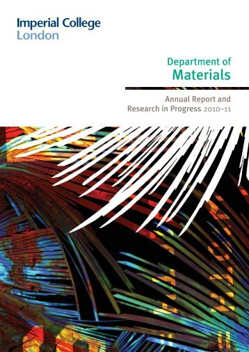 Department of Materials - Workspace - Imperial College London