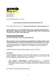 Nasprotni predlog MDS - Gorenje Group